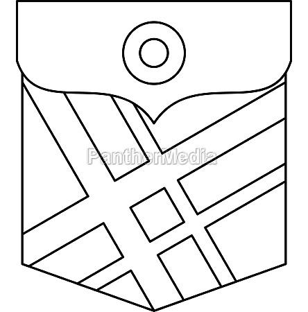 fashion pocket for shirt icon outline