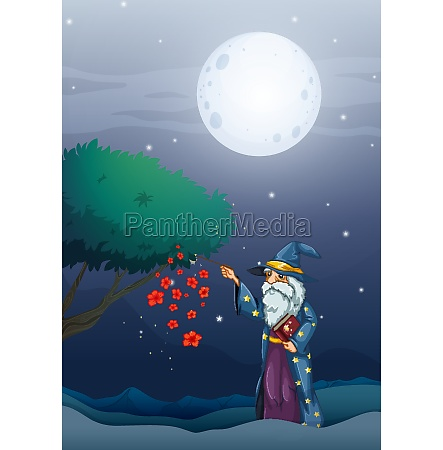 a wizard holding a magic book