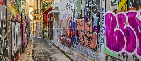 plaka district empty street