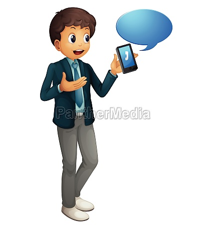boy and cell phone