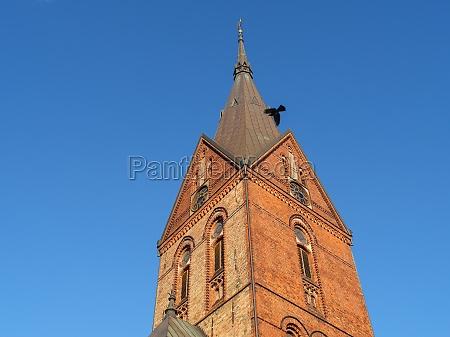 flensburg city at the baltic sea
