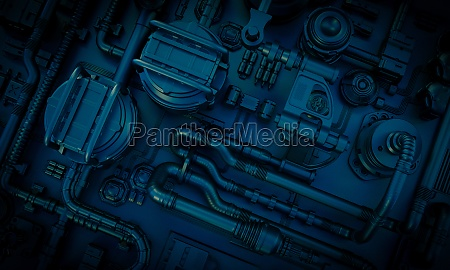 sci fi background image with pipes