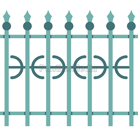 park fence icon isolated