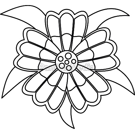 flower icon outline style