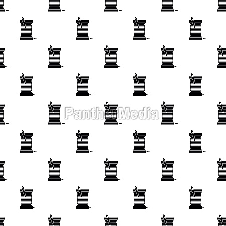 needle and thread pattern vector