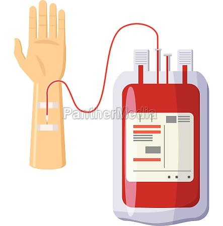 donate blood icon cartoon style