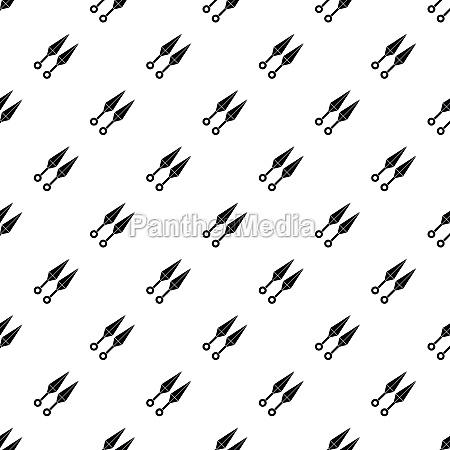ninja weapon kunai pattern vector