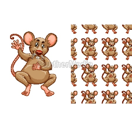 seamless and isolated animal pattern cartoon