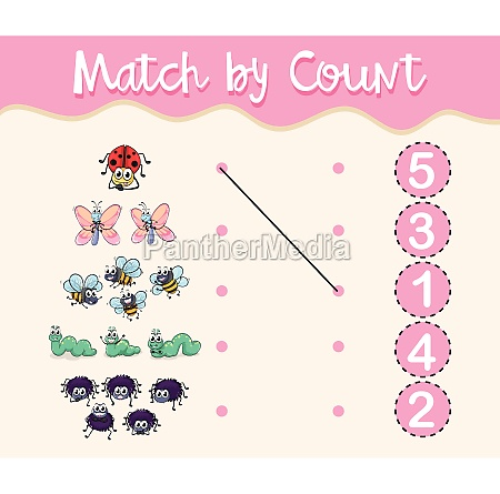 match by count with different types