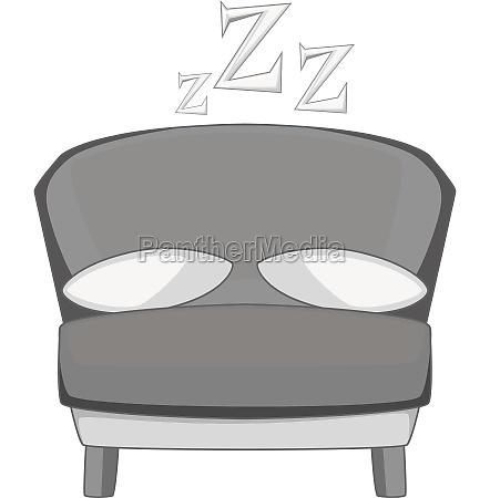 bed icon monochrome
