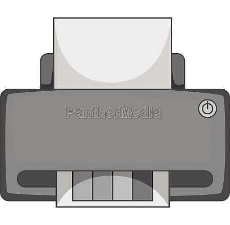 printer with cmyk colored paper icon