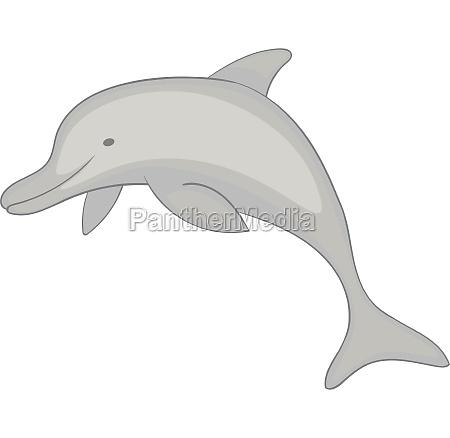 dolphin icon monochrome