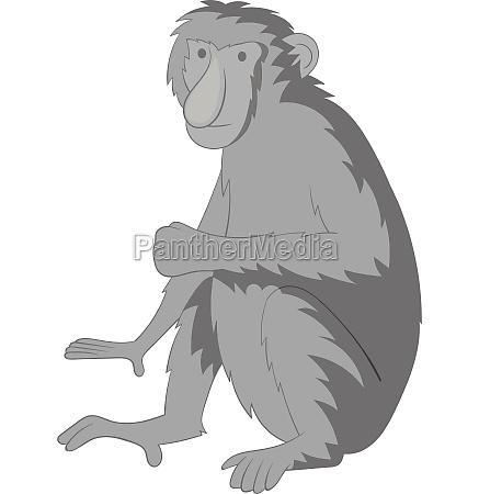 proboscis monkey icon monochrome