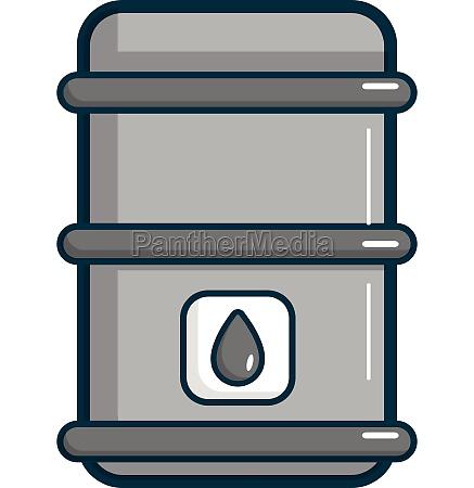 oil barrel icon cartoon style