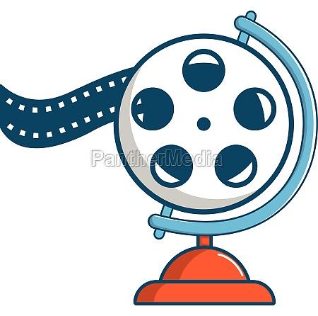 film reel icon cartoon style