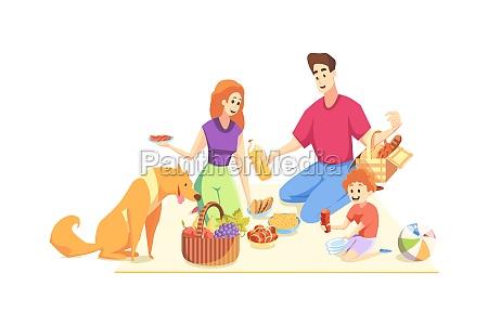 rest picnic family fatherhood motherhood childhood