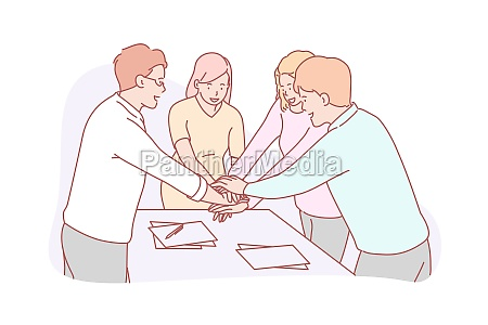 teamwork or coworking business concept