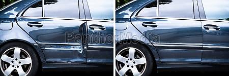 photo of car dent repair