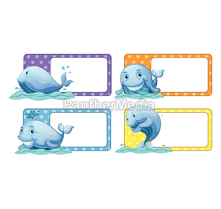 polka dot stickers with whales