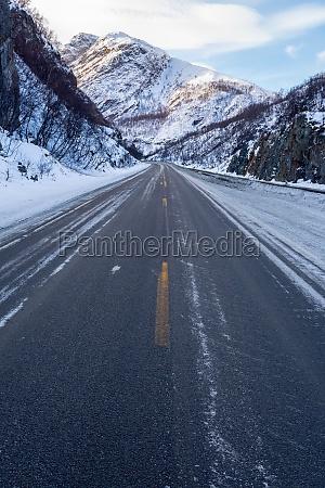 frozen road norway