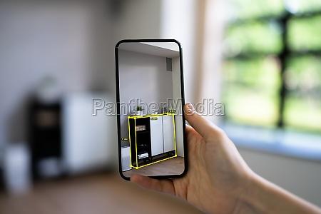 ar mobile phone furniture measurement app