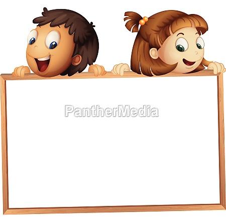 kids showing board