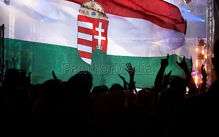 hungarian supporters and fans during football