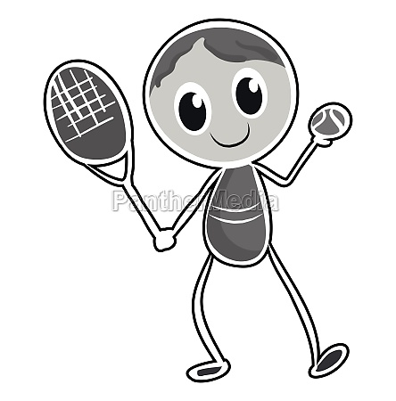 male character playing tennis