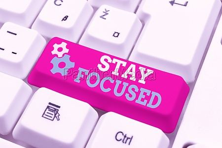 conceptual display stay focused word for