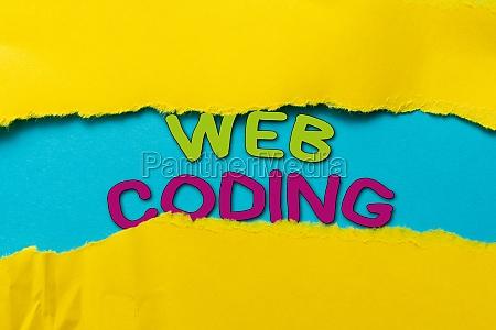 writing displaying text web coding business
