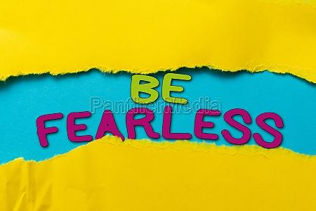 conceptual caption be fearless business idea