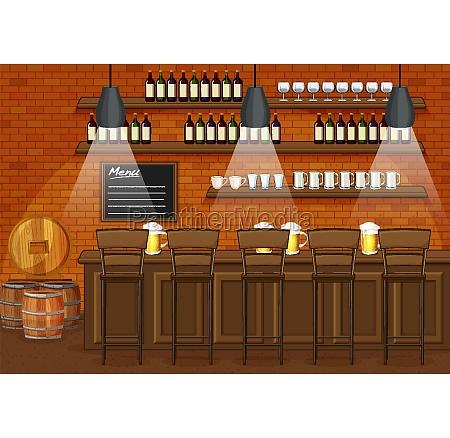 pub and restaurant background scene