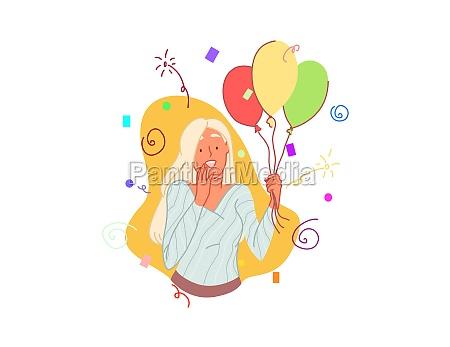 amazed b day balloon birthday celebration