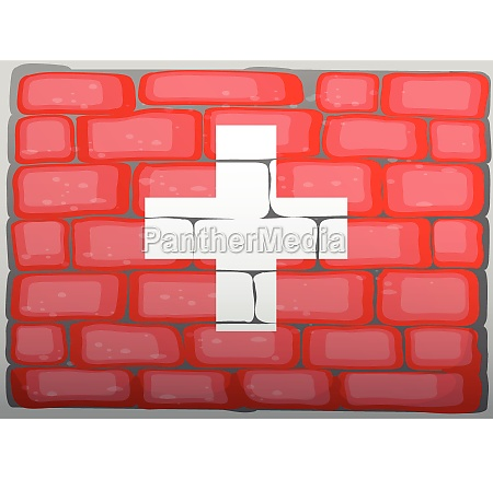 swiss flag on the wall