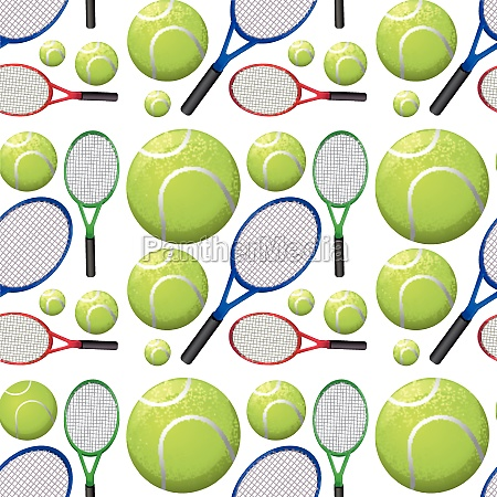 seamless background with tennis rackets and