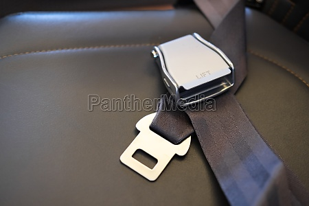 safety belt on seat in airplane