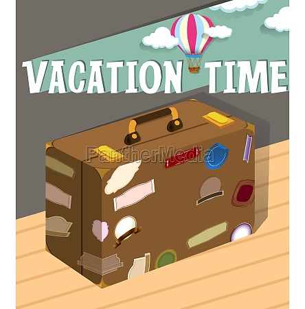 vacation time with luggage