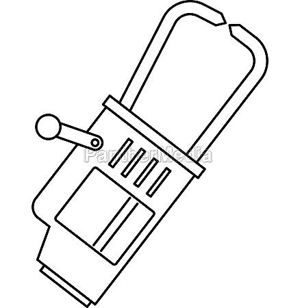 welding equipment icon outline