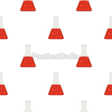 chemical laboratory transparent flask pattern