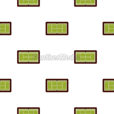 tennis court pattern flat