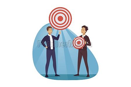 development targeting goal business concept
