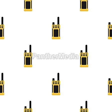 portable radio transmitter pattern flat