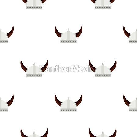 viking helmet pattern flat