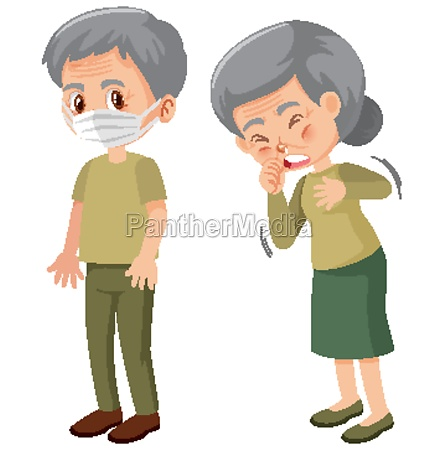 elderly people sick character