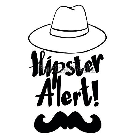 poster design for hipster alert