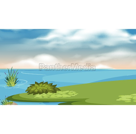 a simple nature landscape