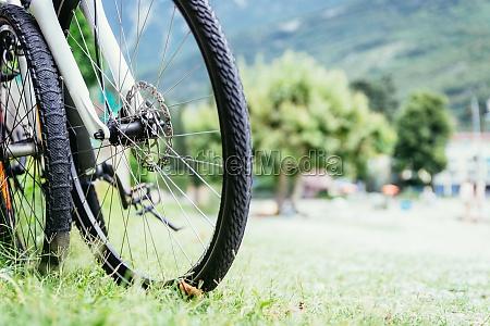 mountain bike tyres on the beach