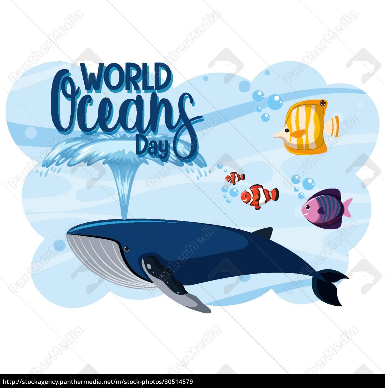 world, oceans, day, logo, or, banner - 30514579