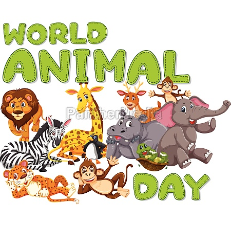 a wold animal day template