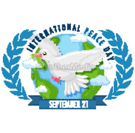 internationl peace day logo or banner